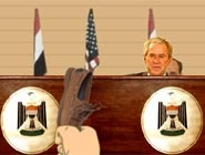 Bush et la chaussure