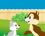 Chip and Dale in Cooker's Garden