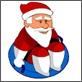 Downhill Santa Claus